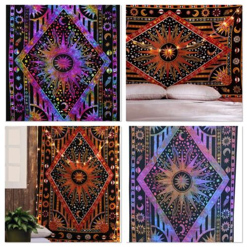 Indian Tapestry Wall Hanging Celestial Hippie Bedspread Throw Bohemian Cover