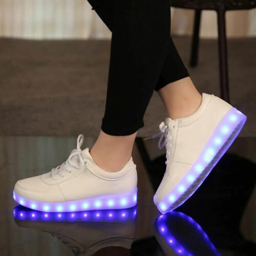 Size 31-46 USB chargering Led Shoes for kids /& adults Light Up