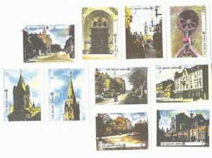 10-Authentic-Soviet-Latvia-Matchbox-Labels-Set-Liepaja-City-Architecture-F10