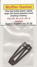 OS .40 LA & .46 LA Exhaust/Muffler Gasket 2 Pack NIP