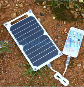 5V 10W Portable Solar Power Panel Charger For Samsung IPhone Tablet Pad
