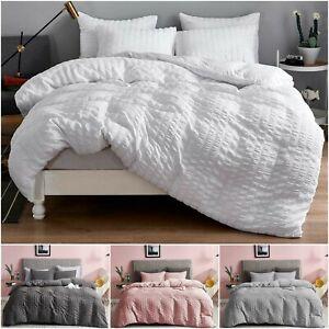 Seersucker-Duvet-Cover-Set-100-Egyptian-Cotton-Bedding-Sets-Double-King-Size