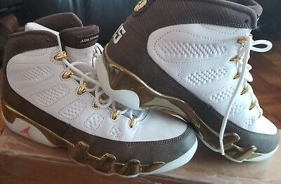 size 40 5f993 5e0b8 Nike Mens Air Jordan 9 Retro MOP Melo White Baroque Brown 302370-122 Size 8