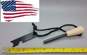 Ferro Rod Fire Starter Survival FireSteel w/lanyard & striker/scrape