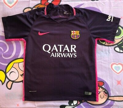 the latest 5011d 9c0b3 FC Barcelona Kids Jersey 2016 Away Purple Medium (22) Soccer/Football MESSI  #10 | eBay