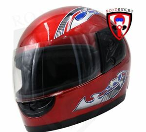 Road-Riders-Extra-Passenger-Full-Face-Helmet-XL-Size-GLOSSY-RED