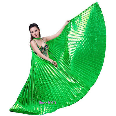 Hot Sale NEW Professional Dancing Belly Dance Costume Isis Wings 10 colors