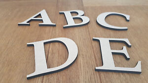 Wooden Medite Premium MDF Letters 6mm Thick Wall Mounted Crafts Plaque