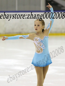 Ice Figure skating dress.bluee Competition Rhythmic Gymnastics dance costume