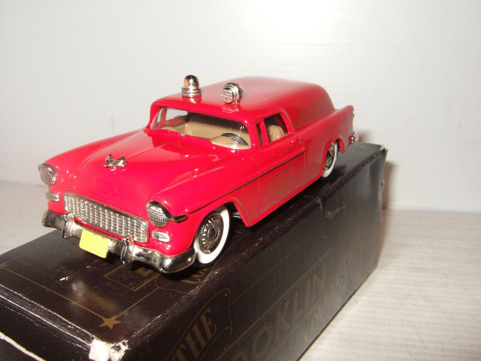 Rare BROOKLIN BRK 26A, 1955 Chevrolet Fire Maréchaux camion, dans à l'échelle 01 43.