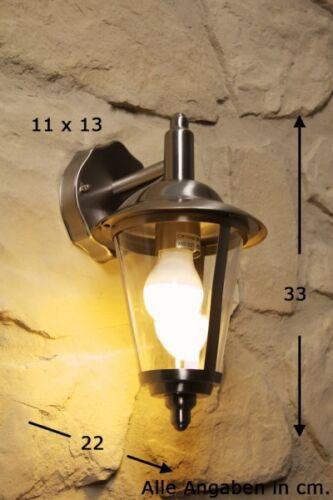 Außenwandleuchte Edelstahl Wandlampe Aussenleuchte Aussenlampe Wandleuchte NEU
