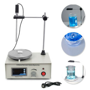 500ml Laboratory Mixer Magnetic Rotating Heating Plate Constant Temperature Heating Plate for School Laboratory UK Plug 220V Hot Plate Magnetic Stirrer