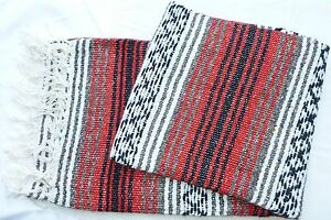 Southwestern Mexican baja blanket authentic hand made in ...