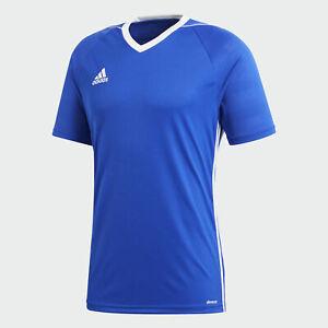 Adidas Women's Tiro 17 Short Sleeve Soccer Jersey Bold Blue | eBay