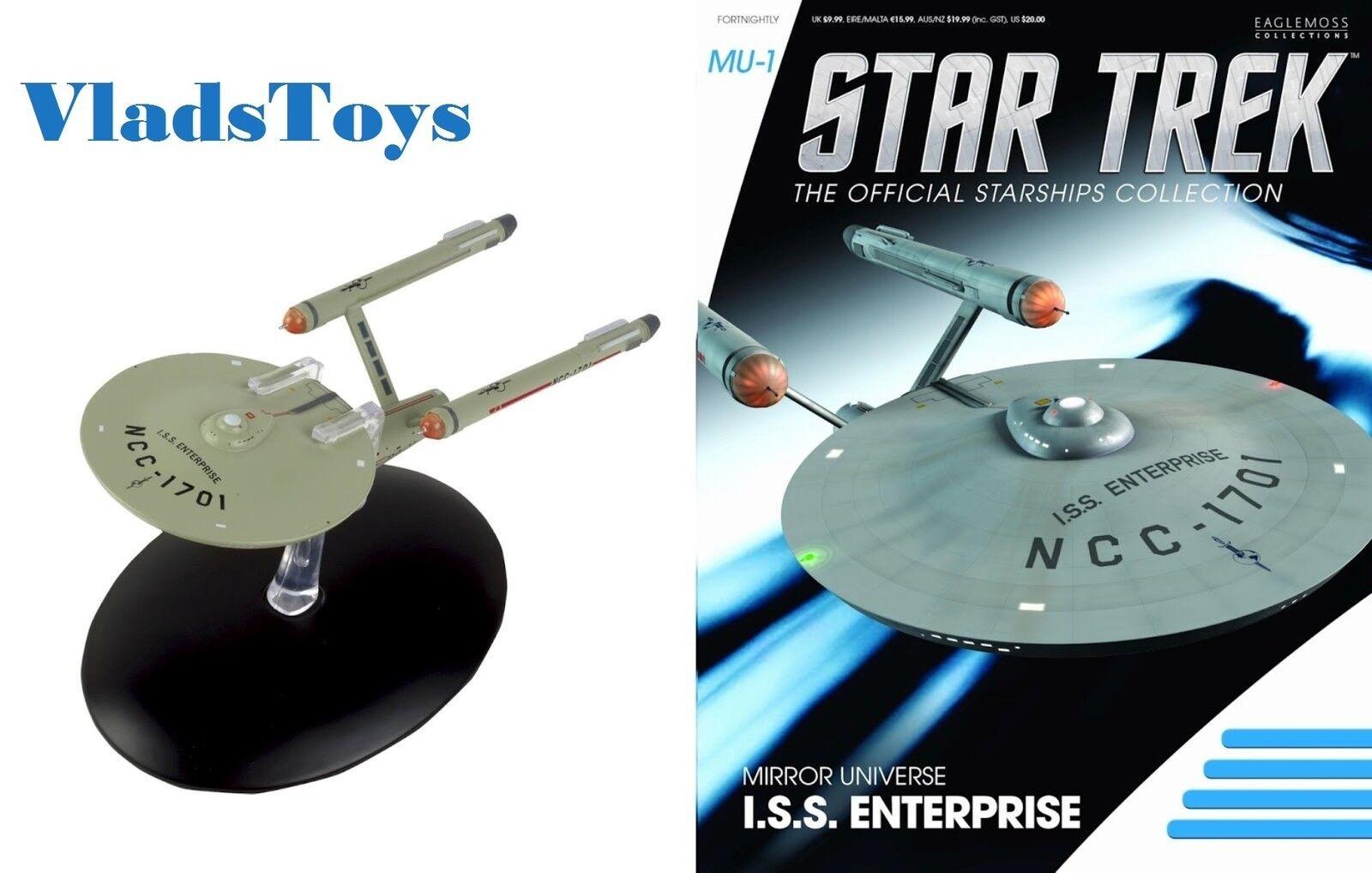 Eaglemoss Star Trek ISS Enterprise NCC-1701 Mirror Universe  M1 with magazine