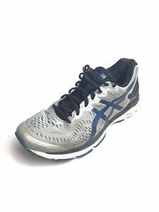Details zu Asics Gel Kayano 23 GreyBlueBlack Running Shoes Men's (Size: 10) T645N 3 Pairs