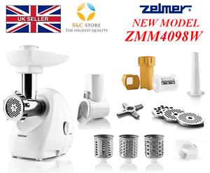 nuevo Zelmer ZMM4098W De Cortador De ZMM4098W Carne Para Picadora trituradora Cubo mejor conjunto 46f4a8