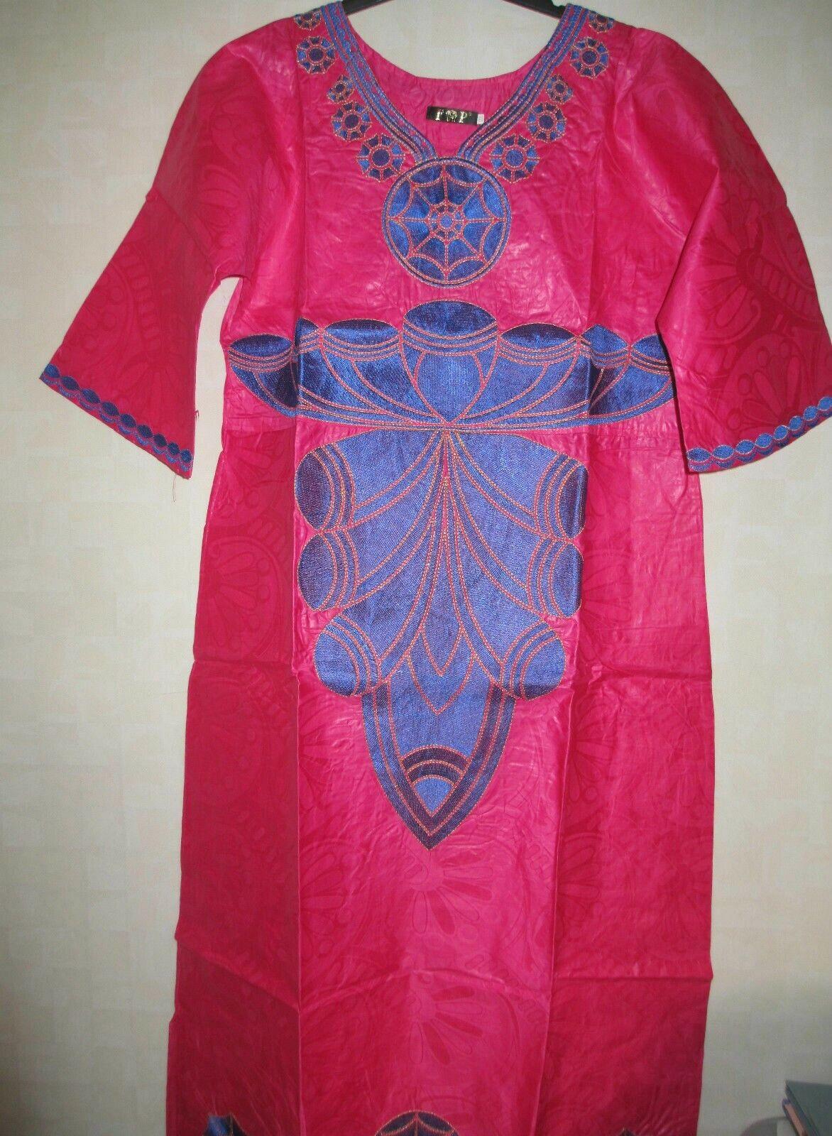 LADIES Rosa AFRICAN KAFTAN DRESS WITH EMBROIDERY DETAILSGröße XXXLBUST 50