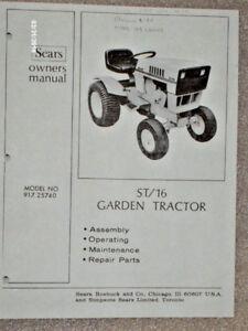 917 25740 sears suburban st16 tractor manual lists on cd ebay