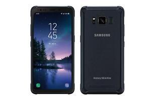 Samsung-Galaxy-S8-Active-Sprint-64GB-GSM-Unlocked-Gray-G892U-Clean-ESN-Good