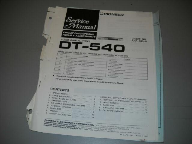 Vintage Pioneer Dt-540 Audio Digital Timer Dual Outlet
