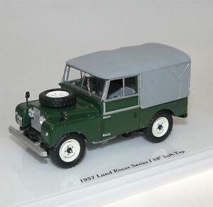 Truescale-Miniatures-TSM-MODEL-1957-Land-Rover-Series-i-88-034-SOFT-TOP-GREEN-1-43
