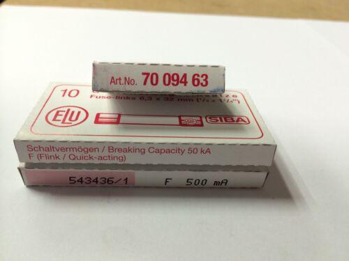 SIBA 7009463 6.3x32 mm Cerámica de acción rápida-Elige tu valoración-Tipo F 600V