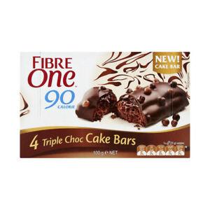 Fibre One Triple Choc Cake Bars 4 Pieces 100 gram