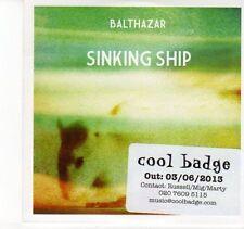 (DN801) Balthazar, Sinking Ship - 2013 DJ CD