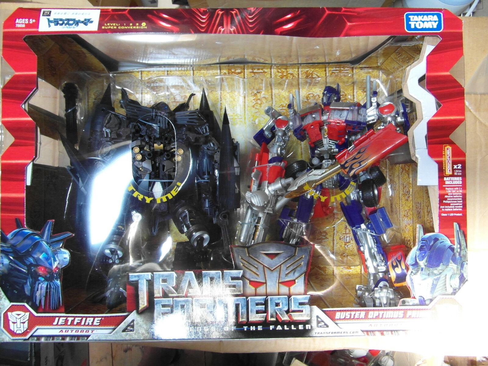 Venta al por mayor barato y de alta calidad. Transformers rojof Buster Optimus Prime Prime Prime + Jetfire set misb Takara  ¡envío gratis!