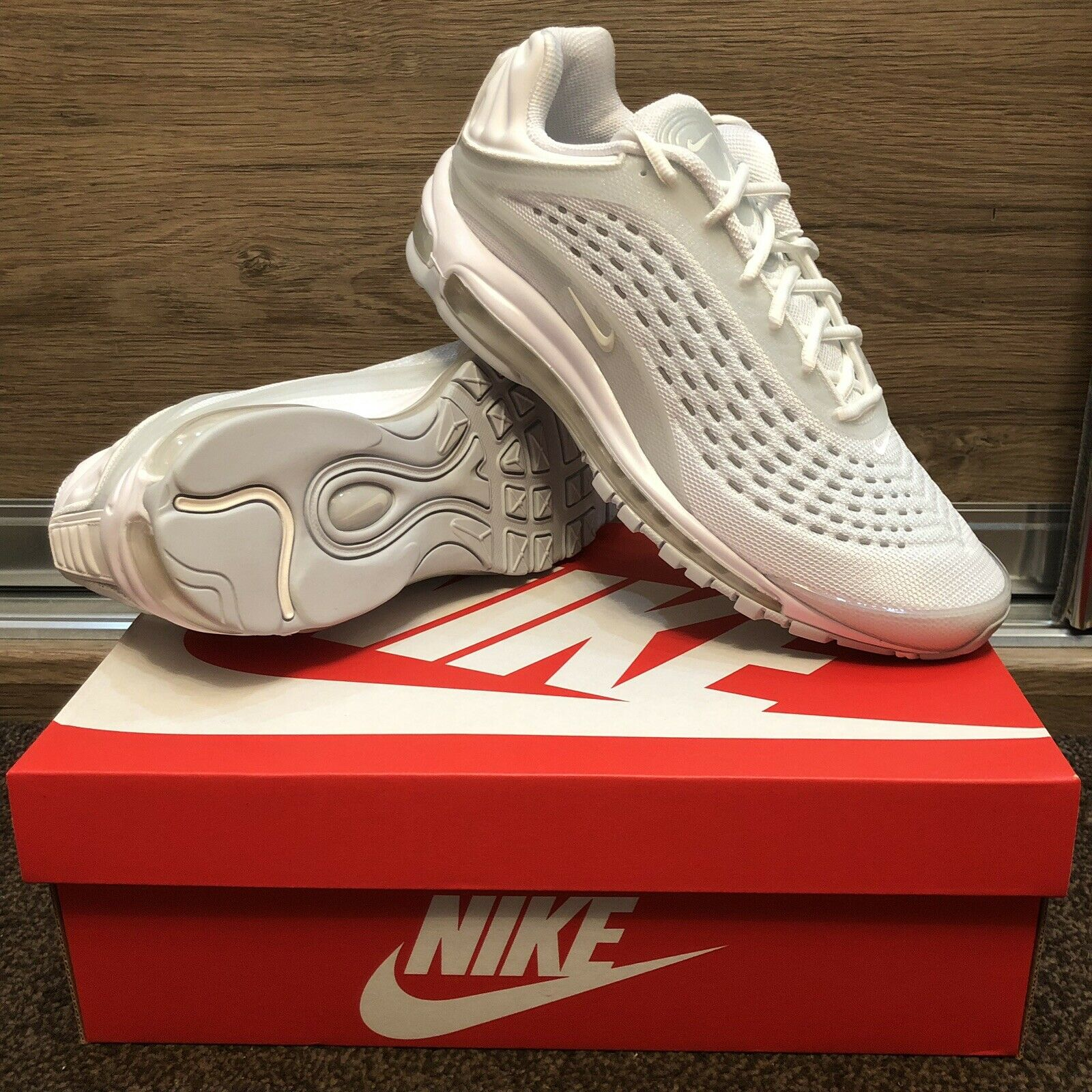 sports shoes 19077 d8056 Air Max Deluxe Triple White