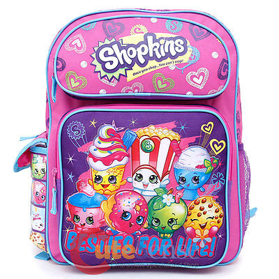 """Shopkins Backpack 16/"""" Large School Book Bag"""