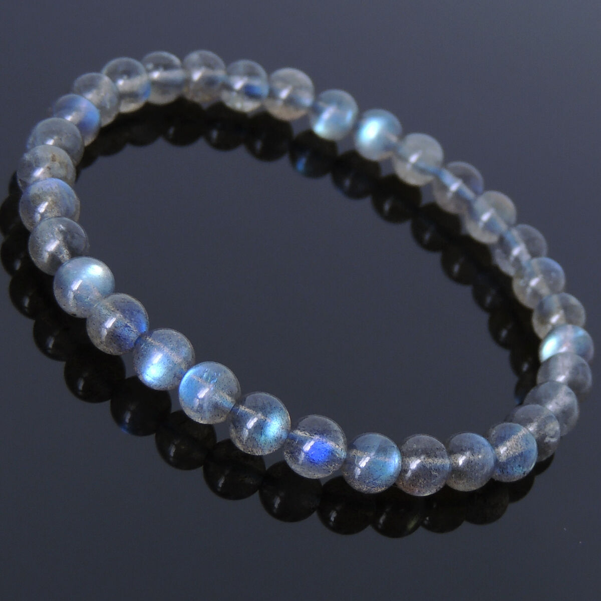 Men's Women Labradorite Bracelet Rare Strong Flash Gemstone DIY-KAREN 245E