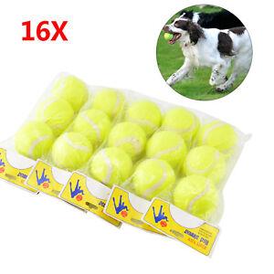 16-X-TENNIS-BALLS-SPORT-PLAY-CRICKET-DOG-TOY-BALL-OUTDOOR-FUN-BEACH-LEISURE-NEW