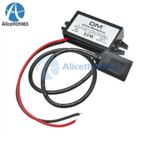 COURANT CONTINU-DC 12 V to 5 V Converter Step Down Module USB Puissance Adaptateur 3 A 15 W