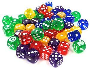 Color-Seis-Lados-Spot-14-MM-Opaco-Juego-Punto-Tablero-Casino-Adulto-O-Ninos