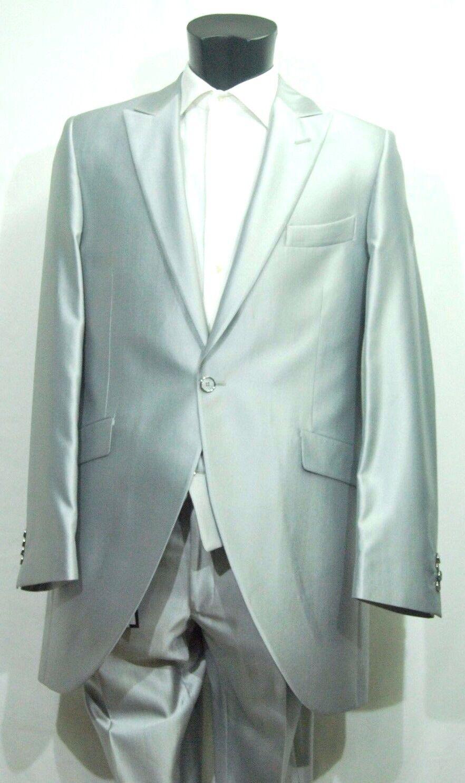 Abito  Herren Carlo Pignatelli Grigio Argento Completo giacca pantalon Cerimonia 56