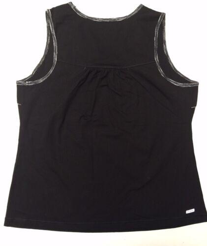 Danskin Now Women/'s Plus Size Active Black Sleeveless Athletic Tank Top NWT.
