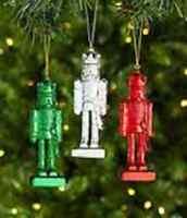 Nutcracker Dillard´s Trimmings 4.75 Nutcracker Ornament Set Of 3
