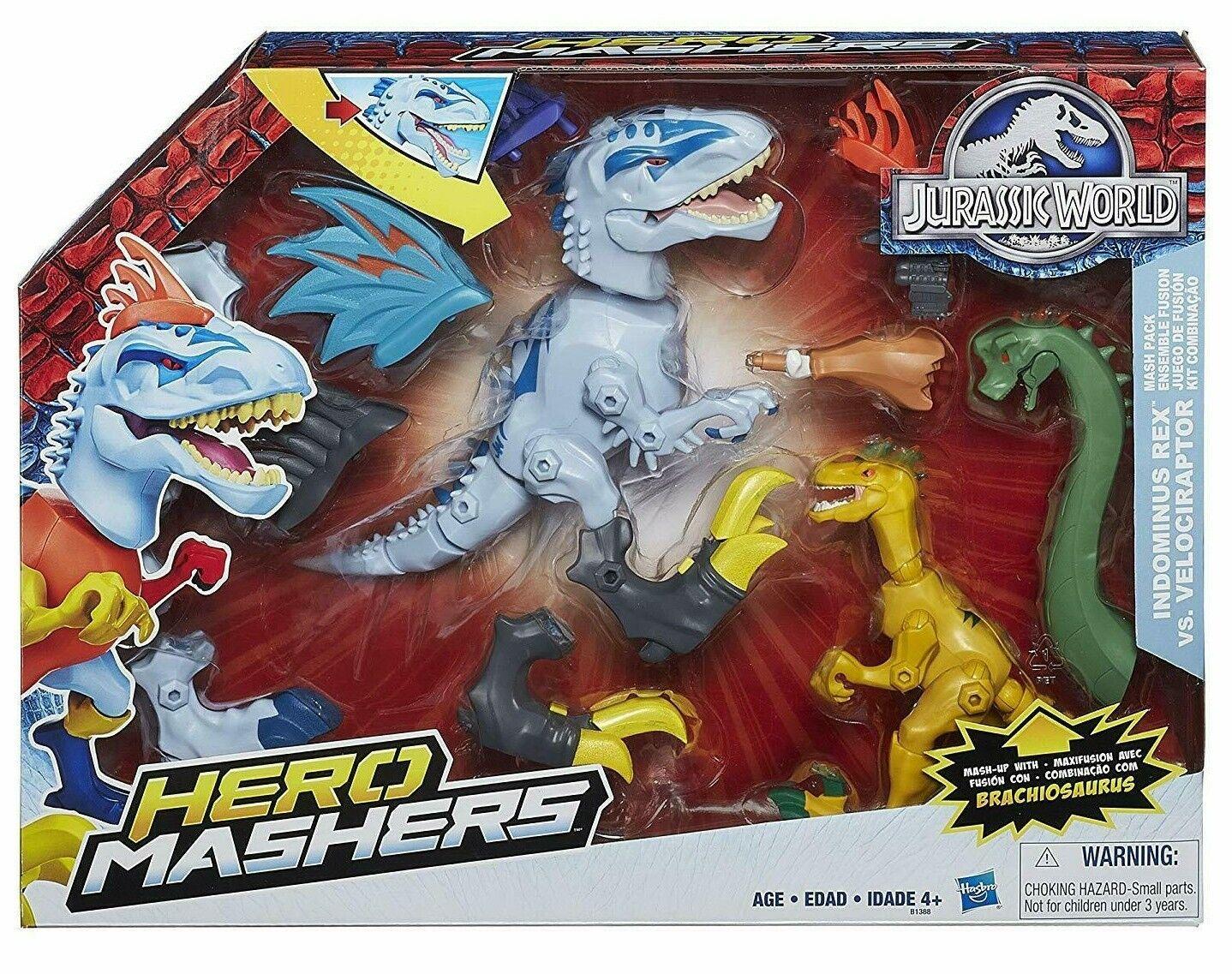 Jurassic World Héroe Mashers indominus Rex Vs. Velociraptor Parque Hasbro Nuevo Raro