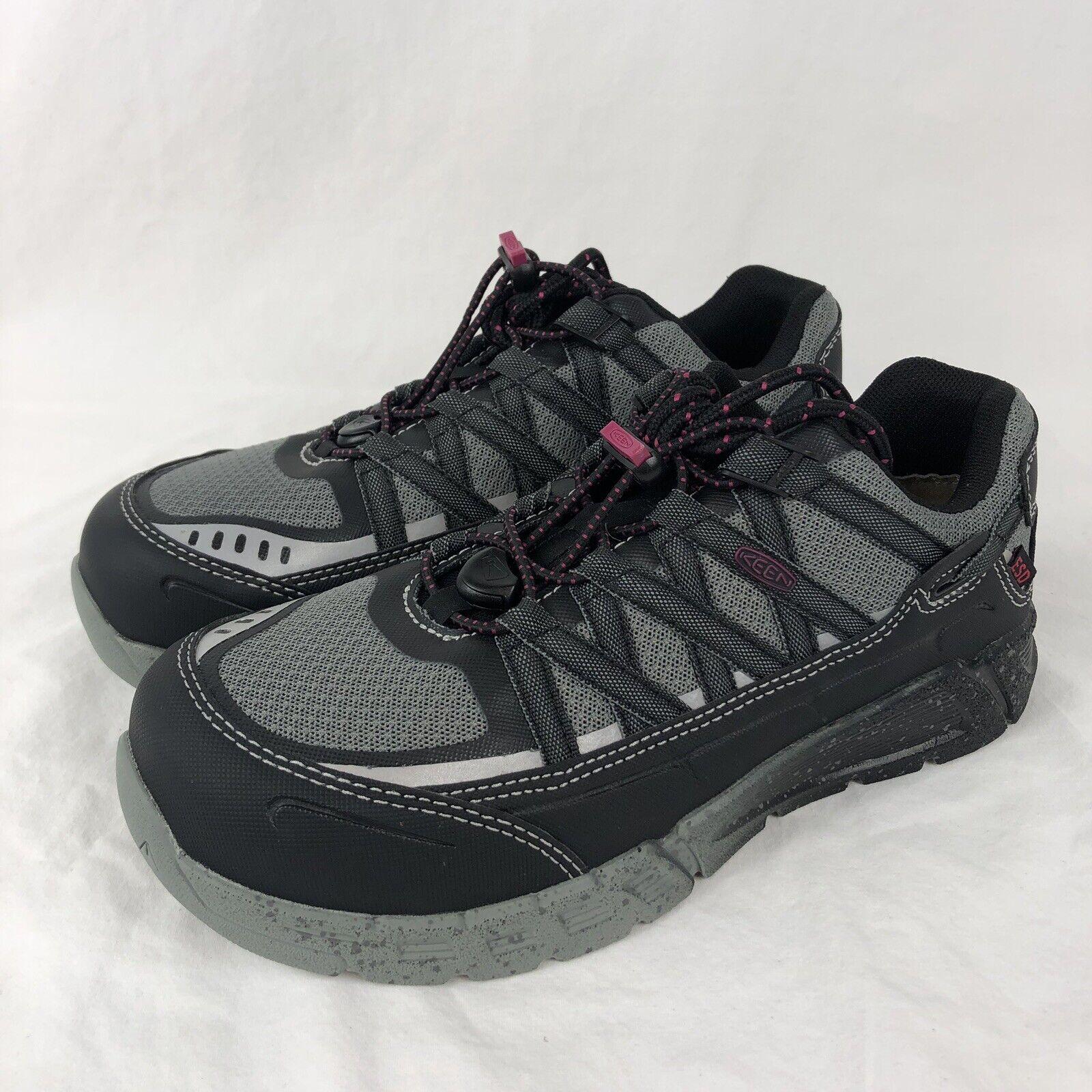 Keen Utility Asheville  at ESD Wouomo 10 Aluminum Toe Work scarpe nero 1017073M  marca