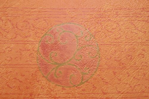 CASADECO 13cm x 5m Wallpaper BORDER Burnt ORANGE Terracotta Gold Textured Vinyl