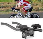 Bike Bicycle Alloy Triathlon Aero Rest Handle Bar Handlebar Clip On Tri Bars
