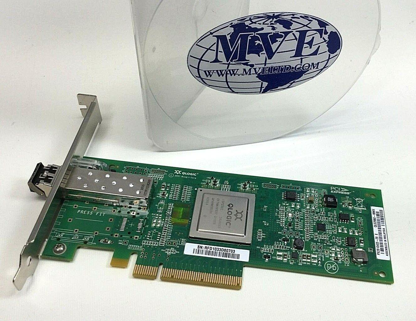 LOT OF 2 IBM 42D0507 42D0503 QLE2560-IBMX SINGLE PORT W/TRANSCEIVER 8GB SFP+SW
