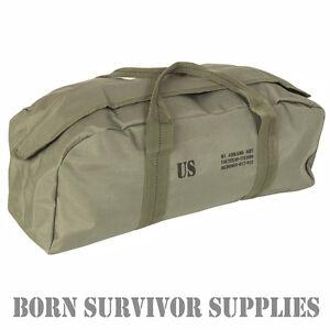 US-Army-Abrams-M1-Tank-Tool-Kit-Bag-Military-Holdall-Fishing-DIY-Green-Car-Range