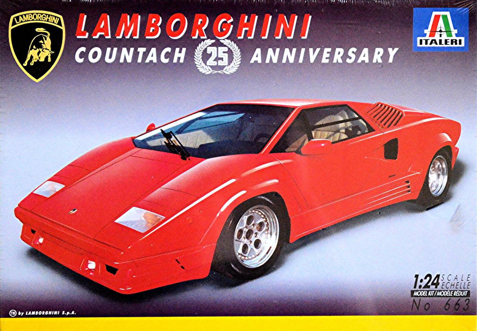 Lamborghini Countach 25 Anniversary 1988-90 - 1 24 Kit Kit Italeri