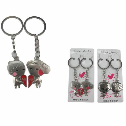 24 pieces I Love U Charm Sweet Couples Keyring Keyfob Keychain Metal Ring Lots