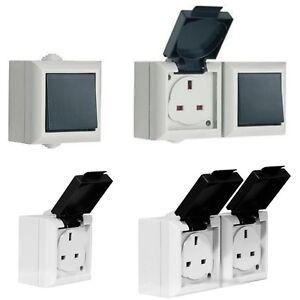 WEATHERPROOF-OUTDOOR-IP54-RATED-SWITCH-AND-SOCKET-13AMP-GANG-SWITCH-amp-SOCKET