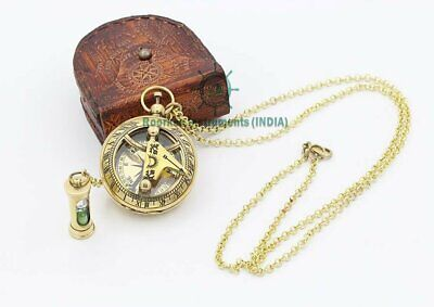 Necklace Brass Sand Timer Pendant Hour Glass Gold Tone  Lot of 100