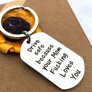 Driver-Keychain-to-Son-from-Mother-Drive-Safe-Key-Ring-Driver-Gifts-Jewelry